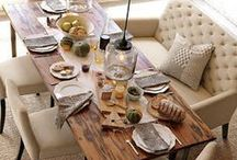 Dining Room / Beautiful tables, wall colors, buffets and place settings