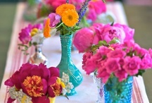 Hot Pink, Orange & Blue / Make a statement with this bold, bright color combination!  / by From Menus to Venues