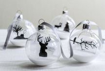 """Christmas White / I REALLY am """"Dreaming of a White Christmas"""" one day.....until then Christmas decorations will have to do"""