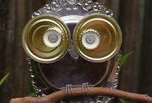 Crafty Metal Owls