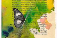 Art Journal Book Page/Words