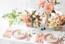 Easter Celebration / Easter decorations, table settings. Easter brunch recipe ideas.