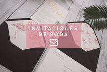 Invitaciones de Boda / Invitaciones de boda diferentes, personalizadas, originales.