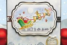 Santa's Pants / This wonderful kit adds a splash of humour to your Christmas card making by following the adventures of Santa going about his business on Christmas Eve.