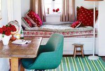 In colour! / Colourful interiors