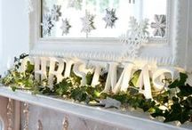 Christmas Mantels / Add a festive flair to your mantel piece this year with these stylish #Christmas ideas
