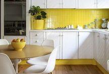 Sunshine Yellow & White Interiors / Light & bright decor inspiration...