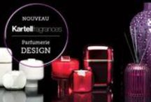 Kartell Fragrances @ delyss / Kartell fragrances is a new brand combining home fragrances with home decor items, in perfect Kartell style. Kartell Fragrances features 8 perfumes, 4 different type of home diffusers in various shapes and colours, for some 70 combinations .  Kartell fragrances presents an array of various scented candles , home sprays , electronic devices with capsules and home diffusers.