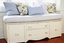 Home Ideas - DIY Furniture / Do it yourself furniture and upcycled furniture redos / by Heather