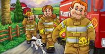 Nozzlehead Books / Join Nozzlehead Books as they give your little firefighter a glimpse into the life of a real firefighter. Ride along with Firefighter Nozzlehead and his crew on the next adventure to save lives, encourage teamwork and teach safety to kids and parents. Kids love Nozzlehead!