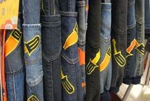 Lasten kierrätys farkut - Recycled jeans / Lasten housuja kierrätys farkuista - Children's pants recycled jeans