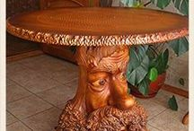 Wood carving  - drevorezba /     Furniture sculptures, and other things unusually of wood ...  / Резьба по дереву