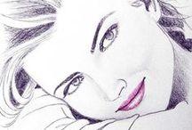 Drawing ✒ /  .... watercolor , pastel.