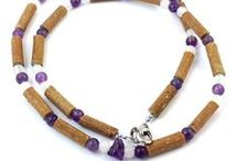 Adult's Hazelwood & Gemstone / Hazelwood Therapeutic Jewelry made with Natural Gemstones and/or Hematite beads!