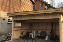 Hagestue, Garden shed, Patio