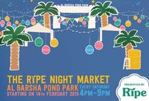 Ripe Night Market / The Ripe Night Market debuts in Dubai, at Al Barsha Pond Park on the 14th February 2015 from 4-9 pm.   Every Saturday, Al Barsha Pond Park will be transformed, with a sea of small lights and colourful lanterns filling the sky and some of the best food concepts serving up dinner in a relaxed, community market setting.   Shop for organic fruit and veggies, browse the craft vendors and enjoy the live music.