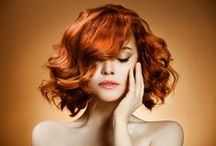 Red Hairspiration / From rich coppery tones to lusciously deep ruby, these are some of our picks for hot red hair hues! Whether you're a natural red or thinking about becoming one here is some red #hairspiration for your next trip to a Rodney Wayne salon and proof as to why everyone should lust for rust.