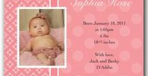 Kids by dot & bow / Custom designs for birth announcements, shower invitations, birthdays and much more at http://dotandbowpaperie.com.