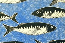 Lino cut prints