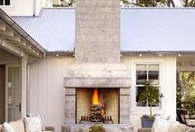 FIREPLACES AND FIREPITS / fun outdoor fireplaces and firepits