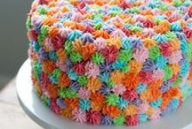 PARTIES / colorful cakes, treats, and party ideas