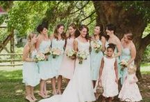 Pink and mint wedding