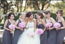 Pink and gray weddings