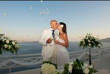 Mystique Weddings / Santorini is the perfect location to tie the knot and make your dream come true in a fairytale wedding.