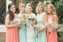 Peach and mint weddings