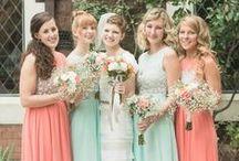 Peach and mint weddings