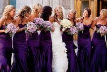 Eggplant, purple, violet weddings