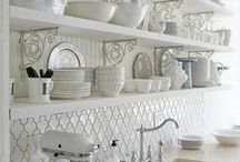 Rustic, vintage kitchens