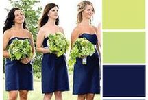 Navy and green weddings