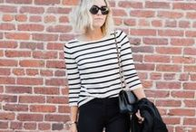 stripes / blouses and pants stripes