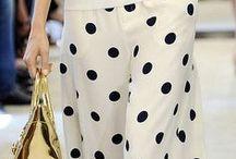 polka dots style / polka blouses, pants