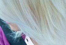 blonde platinum hair / blonde platinum hair, updo, curls, bangs, straight hair