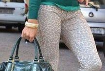 printed pants / printed pants, trousers, capri, leopard, animal print