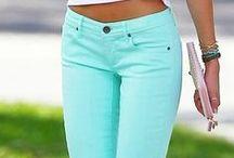 mint pants / mint pants, capri, shorts