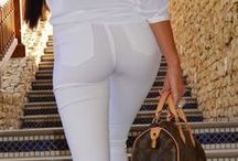 white pants spring-summer / white pants, capri, shorts