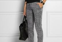 grey pants / grey pants, capri, shorts
