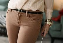 brown-nude pants / light-dark brown & nude pants