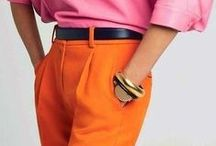 orange-coral pants / orange coral pants