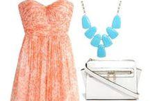 Coral/Salmon dresses
