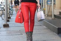 RED PANTS / red-cerise-deep red pants autumn-winter
