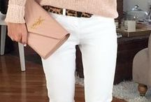 WHITE PANTS / White pants autumn-winter