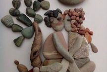 Rock & Pebble Art / All sorts of rock art - painted, drilled etc