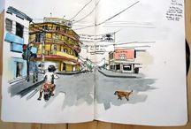 My Sketching / Sketching, watercolors and urban sketching that I love to make