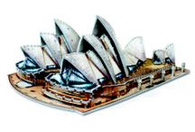 Sydney Opera House / Famous architectural work of the 20th century, Sydney Opera House (a renown place of performing arts in Australia) in a 3D puzzle format will charm the fans with its unique and original design (veils and shell forms).