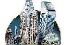 New York Collection / Wrebbit 3D™ proudly presents the brand new New York collection: Midtown East and Midtown West, Financial and World Trade. Once assembled, these four breathtaking stand alone 3D puzzles can be joined together to create a unique puzzle masterpiece of Manhattan, containing nearly 3500 pieces!