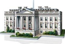The White House / Celebrate the beauty of the Executive Mansion with this stunning replica of the White House. Assemble this 490 pieces 3D puzzle for yourself and proudly display the official residence of the President of the United States of America.